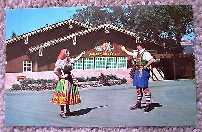 Italian Swiss Colony Postcard, ca. 1960, exterior of Tasting Room, Asti, CA