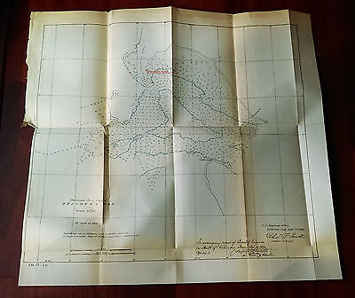 1882 Sketch Survey Map of Belcher's Map Mouth of Columbia River Oregon