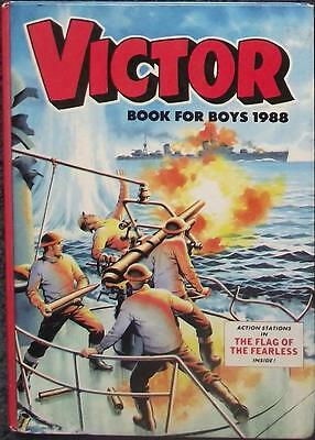 Victor Book For Boys Annual 1988 - Excellent Pages But Cover and Spine Very Worn