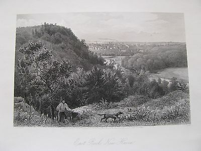 1873 ORIGINAL View of New Haven, Connecticut