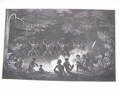 1839 ORIGINAL View Native Dance, New South Wales, Australia