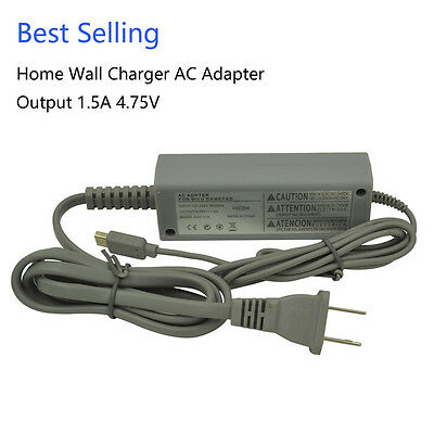 High Quality AC 1.5A Adapter for Nintendo Wii U Gamepad - Charging Cable / Cord