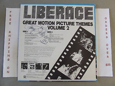 Autographed* Liberace Great Motion Picture Themes Volume 2 Lp Avl 6089