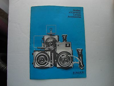 Vtg. Vintage Graflex Xi Camera Lenses Accessories Booklet
