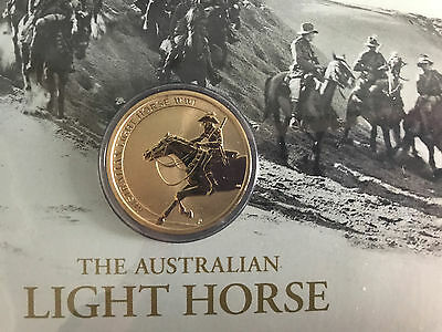 New Mint Uncirculated The Australian Light Horse WW1 $1 Coin PNC Limited to 9000