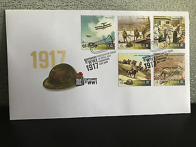 Brand New Mint Condition 2017 Centenary of WW1 First Day Cover Stamp Envelope