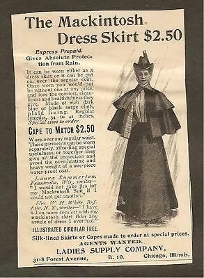 Vintage Ad From Munsey's Magazine - The Mackintosh Dress Skirt