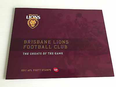 Brand New Mint Condition Brisbane Lions AFL Collector 2017 Souvenir Stamp Folder
