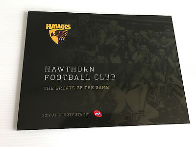 Brand New Mint Condition Hawthorn Hawks AFL Collector 2017 Souvenir Stamp Folder