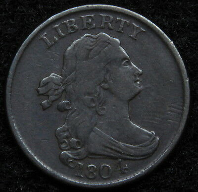 1804 Draped Bust Half Cent - Nice Coin, Free Shipping  (5188)
