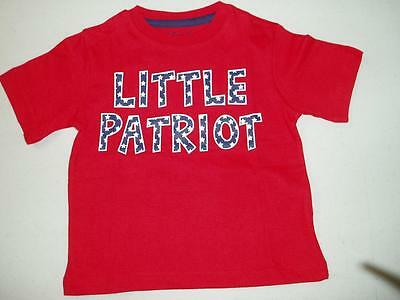 New 4th of July Boys Red Short Sleeve T-Shirt Little Patriot