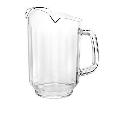 1 PC Polycarbonate Water Pitcher 64 oz Clear Commercial Grade PLWP064CL