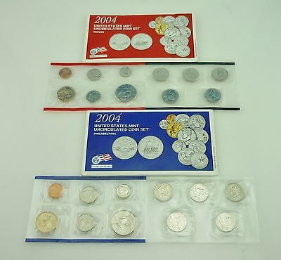 2004 D & P United States Mint Uncirculated Coin Set ~3128B