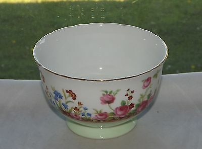 Hudson & Middleton Sutherland Bone China  Bluebells & Roses Sugar Bowl c1940s