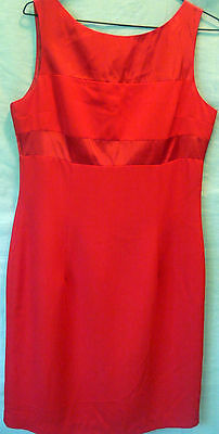 Rockmans - Stunning Red Dress - As New - Size 12