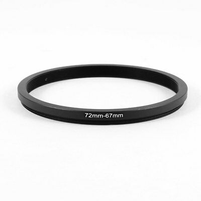 Camera Parts 72mm-67mm Lens Filter Step Down Ring Adapter Black