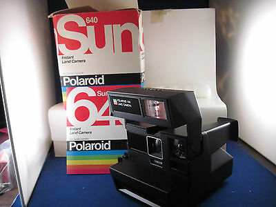 vintage  Polaroid Sun 640 never used in box with instr. book
