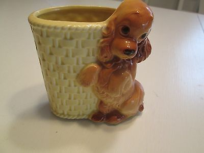 Vintage 1940's Royal Copely Cocker Spaniel Dog Console Planter / Pencil Holder
