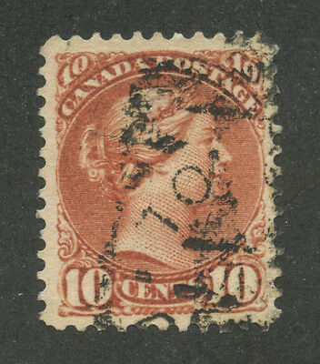 Canada 1897 Small Queen 10c brown red - Toronto Squared Circle Type II #45 VF