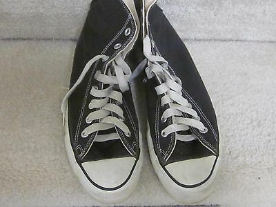 Vintage 1970's Converse Chuck Taylor Black Hi-tops-men's 8 in box,#19160