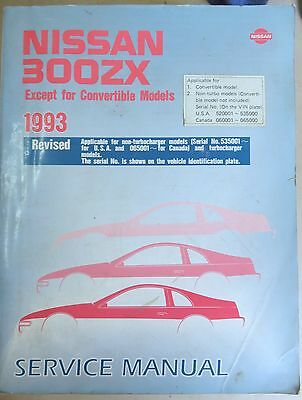 1993 Factory Nissan 300ZX Service Repair Shop Workshop Manual Revised Edition