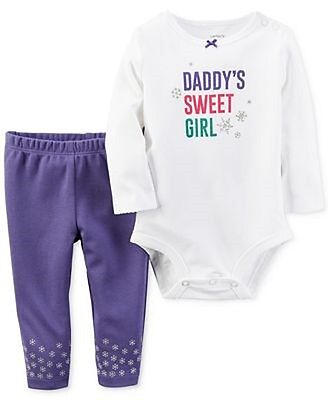 NWT Carter's Baby Girl 2 Piece Spring Cotton Top & Pants Set Size 3 Months