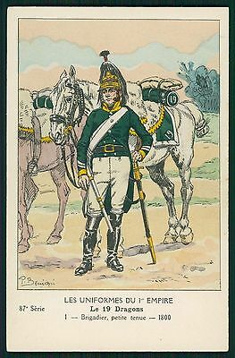 Dragons France war Army original old 1910s postcard lot complete SET of 9
