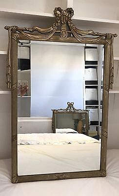 Stunning Empire Regency French style Antique Gold/Gilt Bevelled Mirror -VGC 2/2
