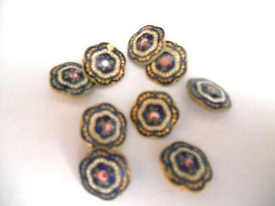 Lot of antique enamel buttons