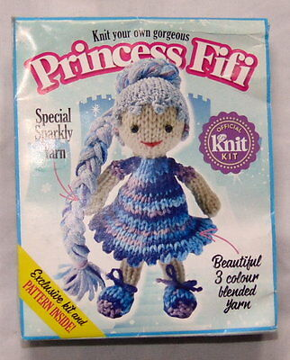 Brand New Knit Your Own Gorgeous Princess Fifi Doll Yarn Kits