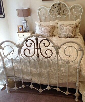 Antique Iron And Brass Bed Ornate Antique Brass And Iron Bed Full Size