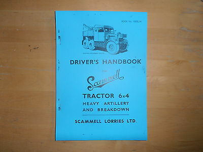 Scammell.Tractor 6x4.Heavy Artillery and Breakdown.Drivers Handbook.