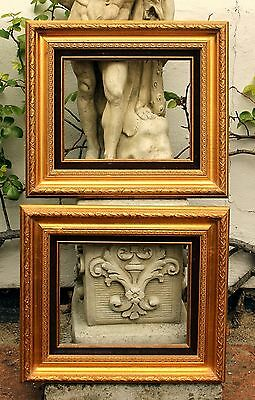 Excellent Pair of C20th Ornate Empire Gilt Gesso Gallery Frames