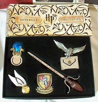 Harry Potter Bookmark Collection NIB Hedwig Nimbus Prophecy Gryffindor Snitch