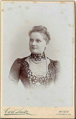 CDV photo Damenportrait - Wien um 1900