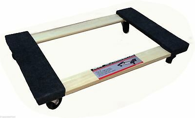 "Hardwood Carpet End Furniture Dolly / Mover's Dolly 3"" Casters 1000 lb. Capacity"