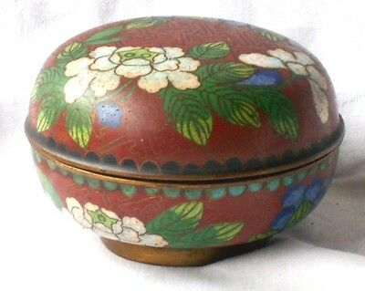 C19Th Chinese Cloisonne Pot And Cover With A Floral Decoration