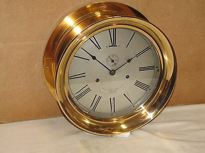 Pilot House Clock~Star Brass Co.boston~1908~Hinged~10 1/2 In Case~Chelsea Key