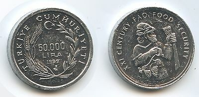 G3451 - Türkei 50.000 Lira 1999 KM#1103 FAO Turkey Republic