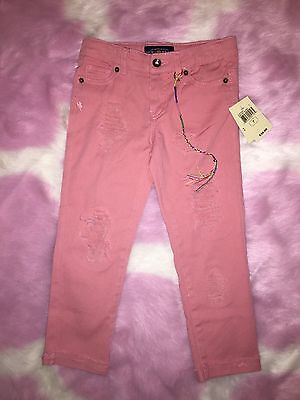 Lucky Brand Girls Pink Jeans Pants Rips New Nwt Summer Spring Size 7