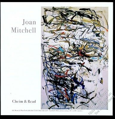 2001 Joan Mitchell 1956 painting NYC gallery show vintage print ad