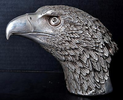 Antique Chinese Qing dynasty silver scribes scroll weight statue eagle bird 1850