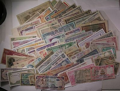 68 World Banknotes CURRENCY PAPER MONEY lot