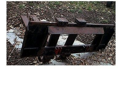 New Holland Skid Loader Forks- Used-Heavy Duty