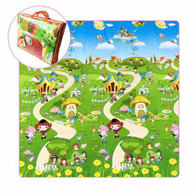 Large Waterproof Double-Sided Baby Play Mat Portable Outside Picnic Carpet