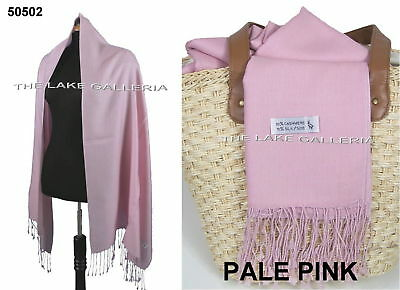 Liquidation Pale Pink Soft Real Cashmere Pashmina Wool Shawl Wrap Scarf NEW