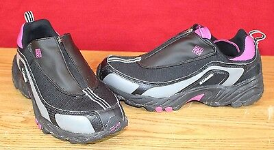 Womens Size 10 Athletic Running Shoes Black & Pink Lace up w Lace Cover