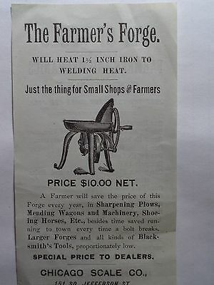 Farmer's Forge Advertising  Chicago Scale Co For Farmers And Mechanics