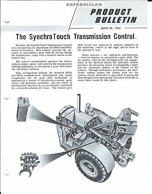Equipment Brochure Caterpillar SynchroTouch Transmission Control 2 items(E3702)