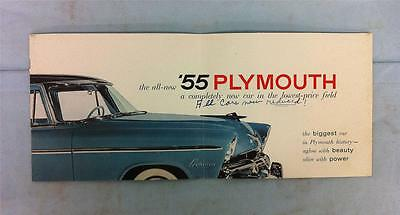 Original 1955 Heiman Plymouth Illustrated Sales Catalog Antique Automotive